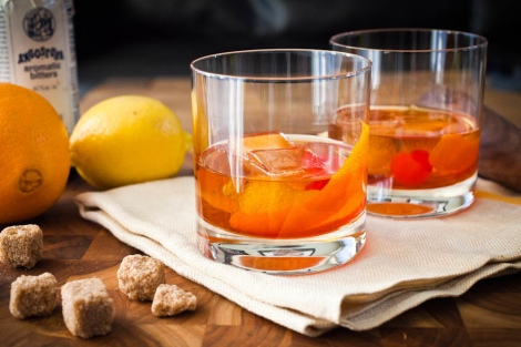 old fashioned cocktail spread